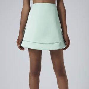 Satin a line mini skirt top shop